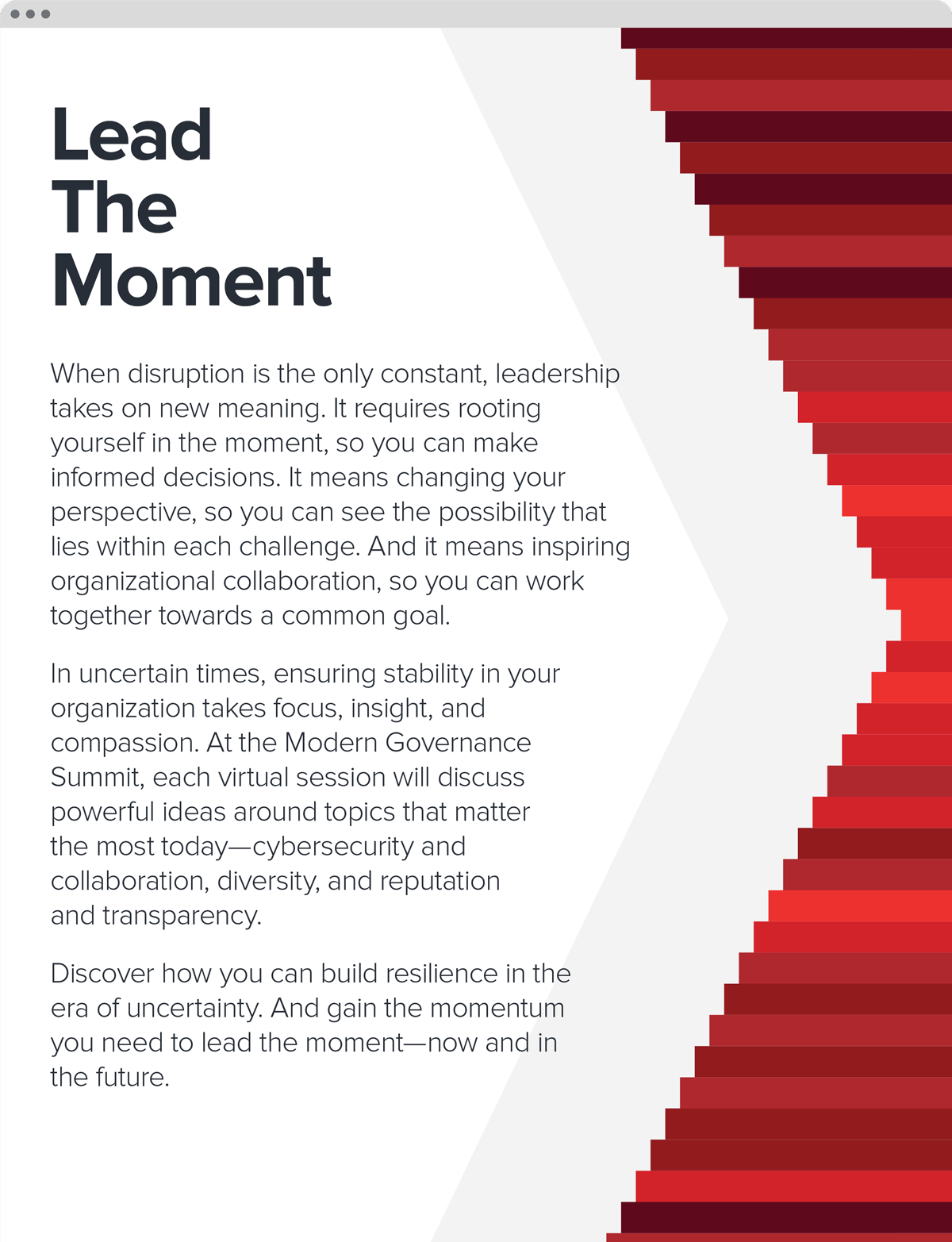 Lead the moment—theme and concept note created for the event.
