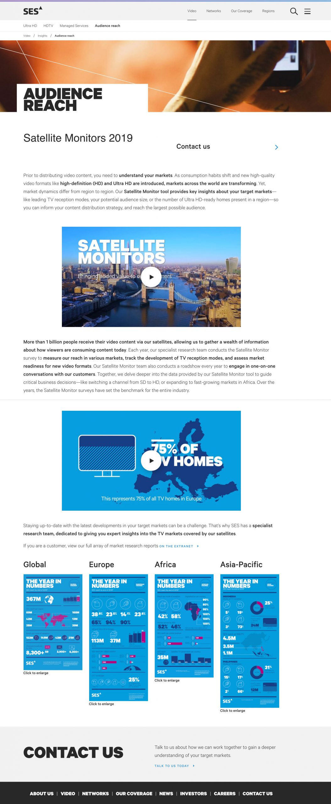 A image showing the web content created for the campaign.