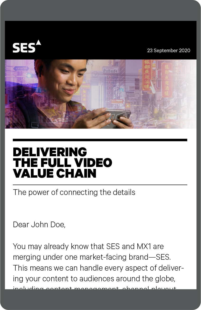 Image showing an emailer created to promote the SES website.